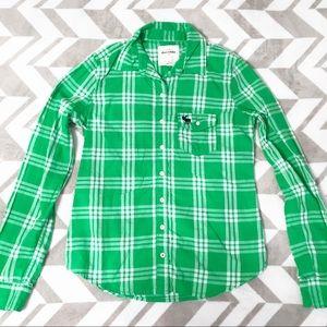 Girls abercrombie kids Plaid Flannel Shirt